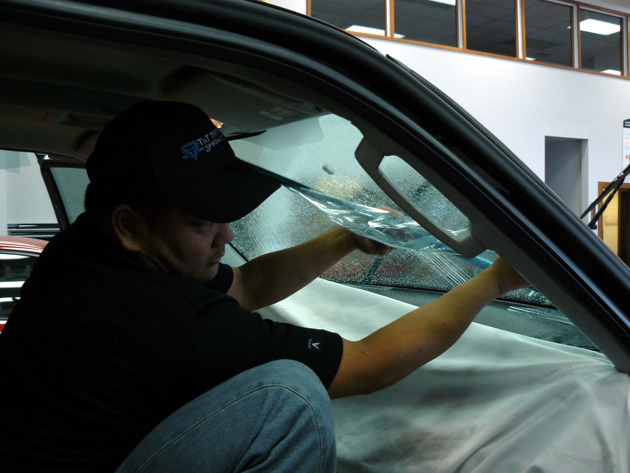 new legal clear heat blocking front windshield film t. Black Bedroom Furniture Sets. Home Design Ideas